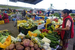 Santa Cruz Island open air market